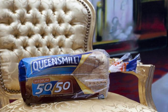 A loaf of Kingsmill bread rebranded Queensmill for the Queen's Diamond Jubilee