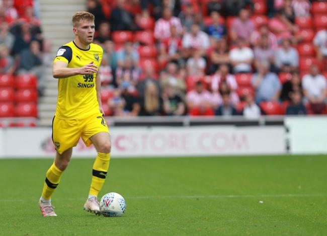 Chris Cadden looks forward during his Oxford United debut last weekend   Picture: Richard Parkes