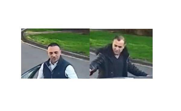 Police want to speak to these two men after an elderly woman was robbed