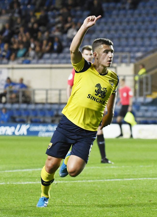 Cameron Brannagan celebrates his winning goalPicture: David Fleming