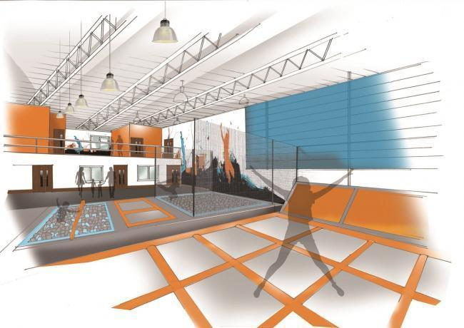 How the new trampoline area at the leisure centre will look