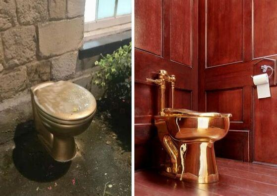 Golden toilet spotted in nearby town after theft of Blenheim's £1m one