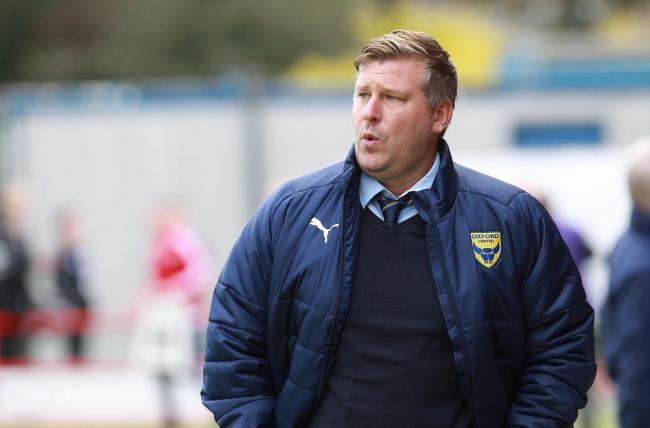 Karl Robinson has told his Oxford United players to expect a gruelling week when they return from their break  Picture: Richard Parkes