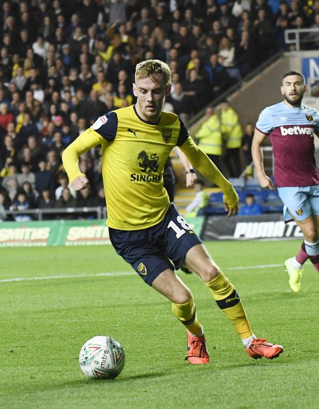 Mark Sykes in action during Oxford United's win over West Ham last month	 Picture: David Fleming
