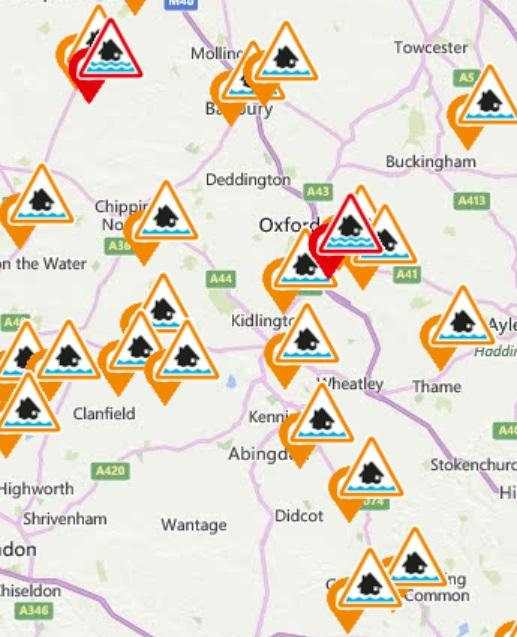 Bicester Advertiser: Flood alerts and warnings for Oxfordshire