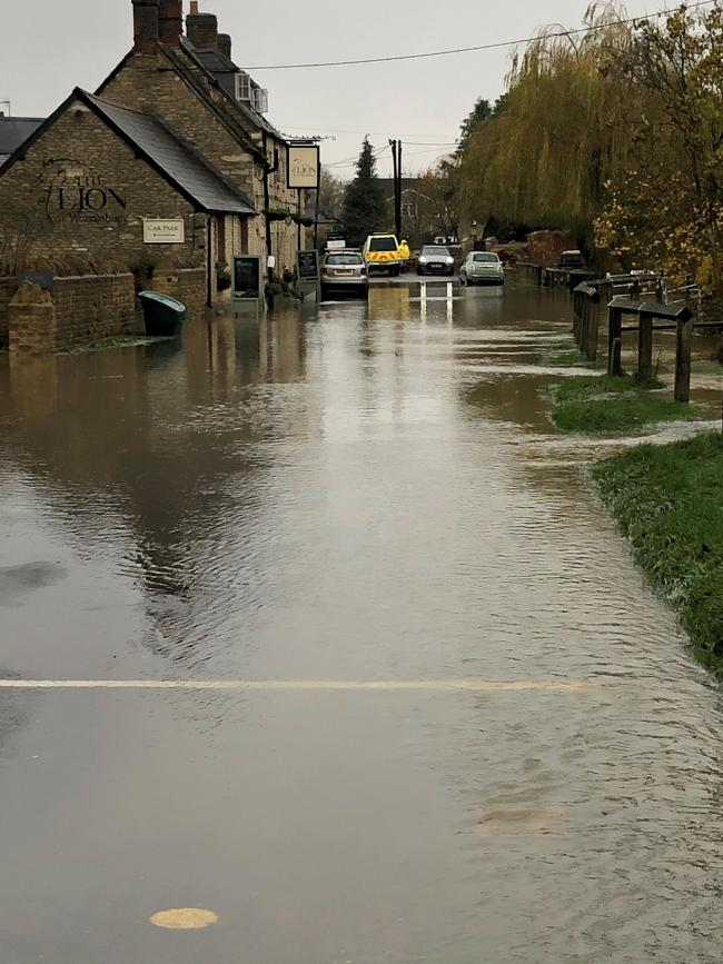 Wendlebury as of 10.15am. Pic: Sue Clarkson