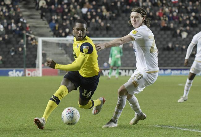 Shandon Baptiste is the shining example for all those in Oxford United's youth set-up to follow, having made the step up into senior football and become a success    Picture: David Fleming
