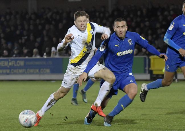 Oxford United in action at AFC Wimbledon in December 	  Picture: David Fleming
