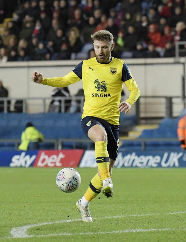 Matty Taylor in action during Oxford United's defeat to Rotherham United  Picture: David Fleming