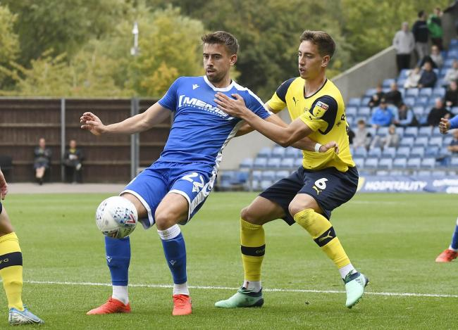 Gillingham's Olly Lee in action against Oxford United earlier this season Picture: David Fleming