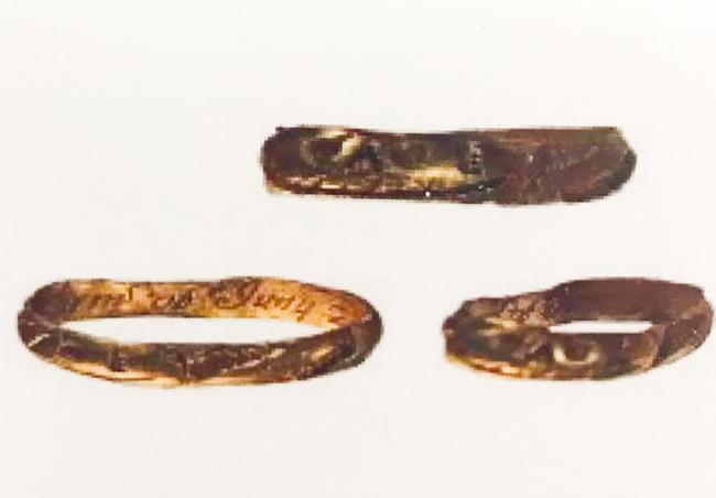 Post Medieval gold finger ring. Pic from Oxford Coroners Court