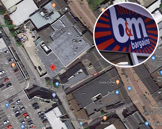 The location of the police presence/ B&M exterior. Map: Google Maps
