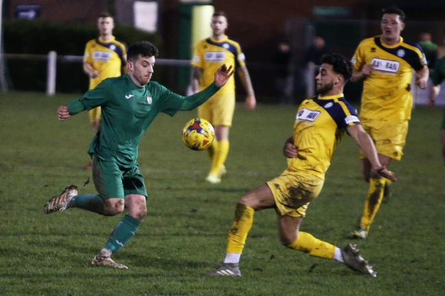 Declan Peart, left, who scored Kidlington's second goal at Yaxley Picture: Ed Nix