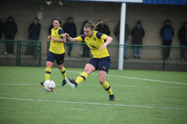 Kayleigh Hines won the 2019/20 players' player and fans' goal prizes at Oxford United Women's online awards evening Picture: Darrell Fisher