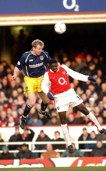 David Oldfield, playing for Oxford United against Arsenal in 2003Picture: David Fleming