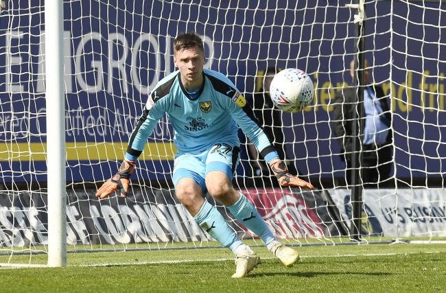 Jack Stevens during his Oxford United debut, against Charlton Athletic last season   Picture: David Fleming