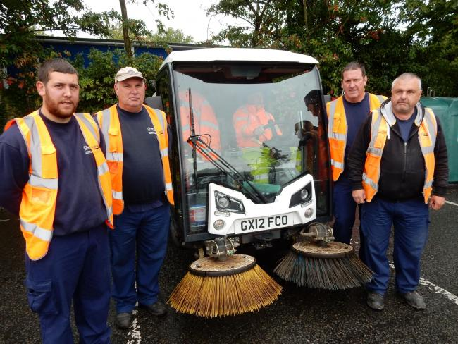 Cherwell District Council street cleaning team. Picture from CDC