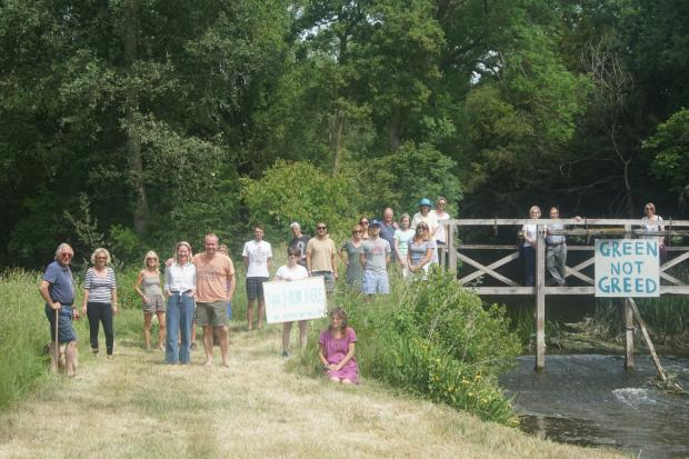 Waterstock residents oppose the logistics hub at Waterstock Golf Club. Pic taken at Waterstcok Flood Meadows Reserve