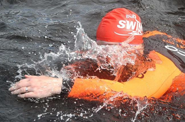 Diving straight in at the Great Scottish Swim.