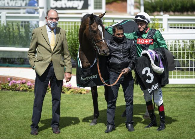 Trainer Henry Candy with Limato and Adam Kirby after winning the Betway Criterion Stakes at Newmarket  Picture: Edward Whitaker/PA Wire
