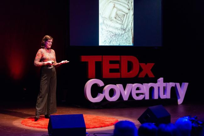 Lorna Collins. Picture: Youtube/TEDxTalks