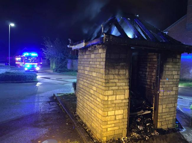 Firefighters called to bins on fire at midnight