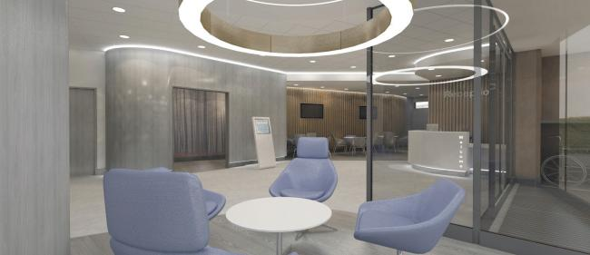 Aritist impression of new radiotherapy centre in Swindon. Picture: OUH