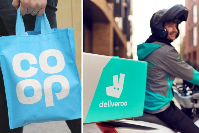 Co-op shoppers can now get items from 400 stores on Deliveroo. Pictures: Co-op/Deliveroo