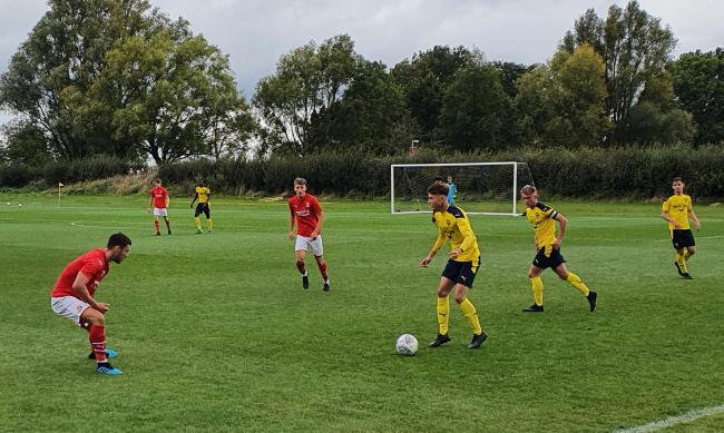Sam Johnson on the ball in Oxford United's victory against Swindon Town