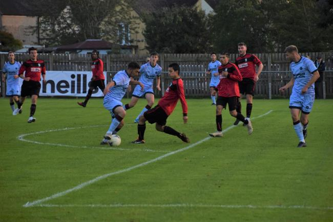 Ardley United, pictured (in blue) taking on Edgware Town in the FA Cup last month, have seen a big increase in crowds  Picture: Dan Reed
