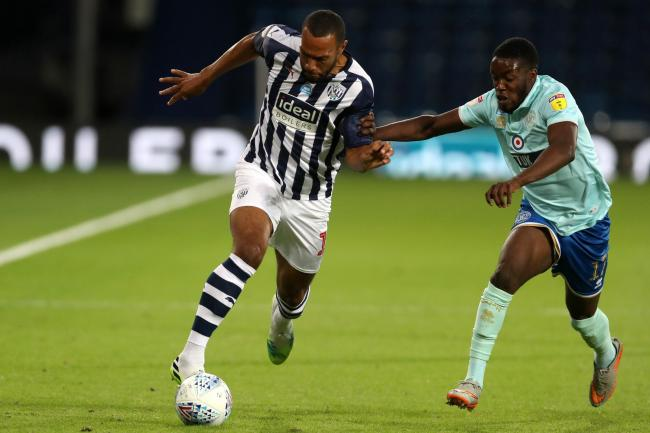 Olamide Shodipo (right) in action for QPR against West Brom in July   Picture: Adam Fradgley/AMA
