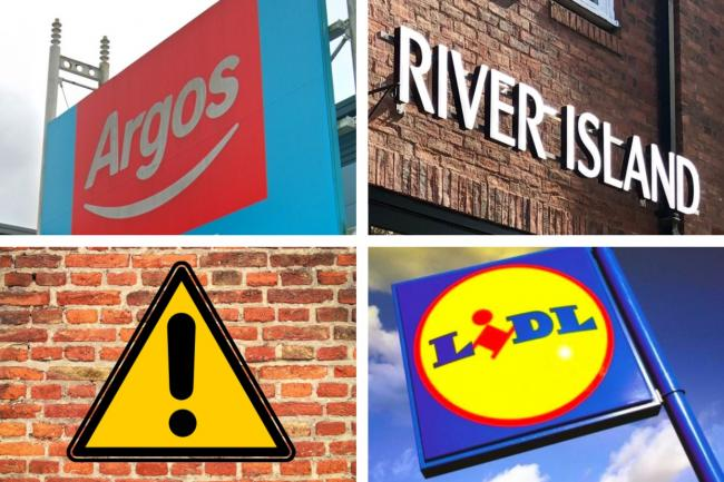 Argos, Lidl and River Island launch urgent recalls on a number of products. Picture: Newsquest