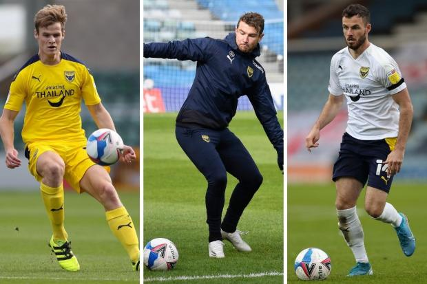 Oxford United have injury doubts over (from left) Rob Atkinson, Sam Winnall and Anthony Forde ahead of the Swindon Town game   Pictures: James Williamson and David Fleming