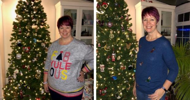 Annonceur Bicester: Kirsty Cound avant et après la perte de poids
