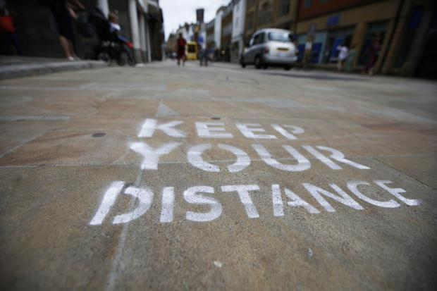 The one-way system stencils in Oxford City Centre. Picture: Ed Nix