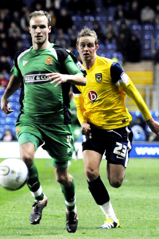 Scott Rendell in action on his Oxford debut