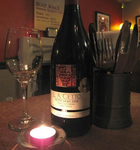 L. A. Cetto, Petite Sirah 2008 found at the Anchor in Walton Manor for £22.50.