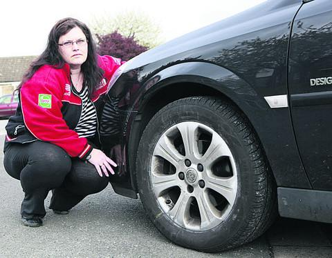Tina Austin  was among 30 victims of tyre vandalism in Bicester last month