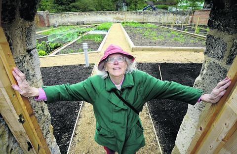 Joanna Matthews at the kitchen garden at Ruskin College's Headington annexe
