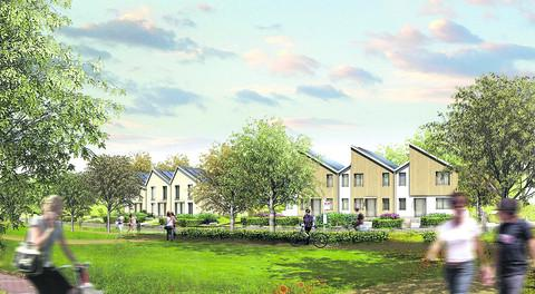 An artist's impression of the eco town