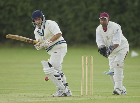 Marsh Gibbon's Alex Wallace hit 70 in their Airey Cup first-round win against Tetsworth
