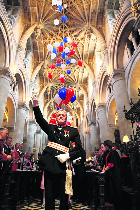 The Lord Lieutenant of Oxfordshire Tim Stevenson at the service of celebration at Christ Church Cathedral