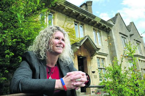 Julie Stodart-Cook at Kingham Hill School's Severn House boarding house last month