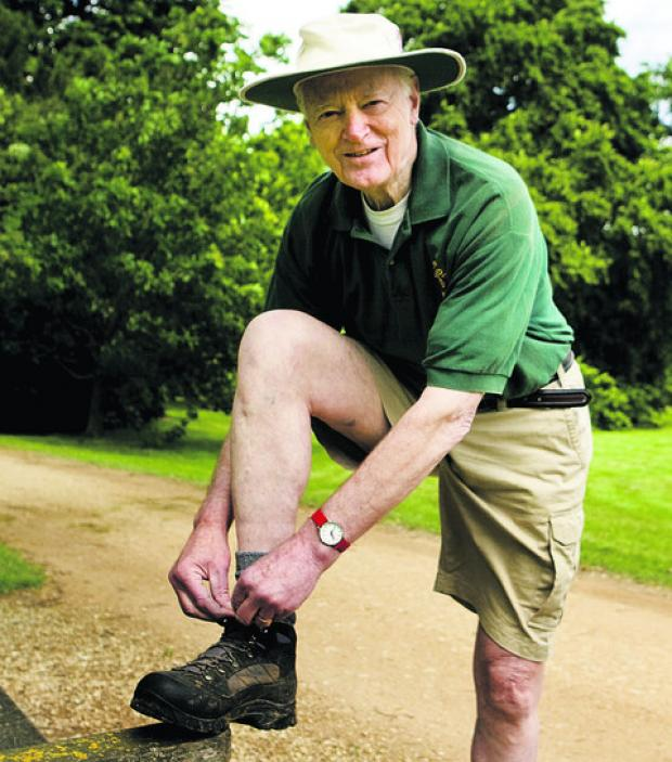 Sir Hugo Brunner is walking the Oxfordshire Way for charity