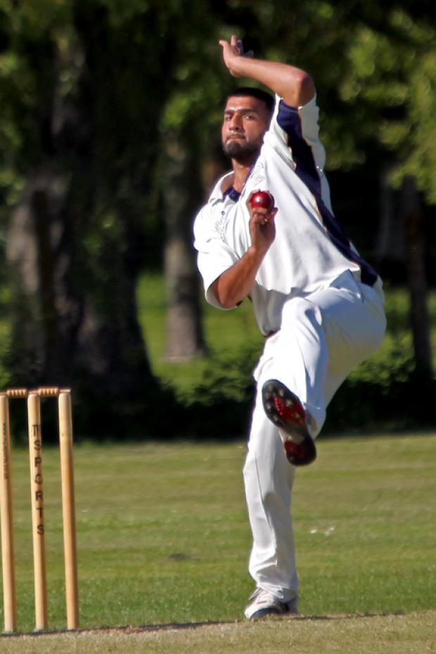 Twyford's Kamber Hussain captured 6-29 and then scored 37 as they won by eight wickets at Long Marston in Division 2 on Saturday