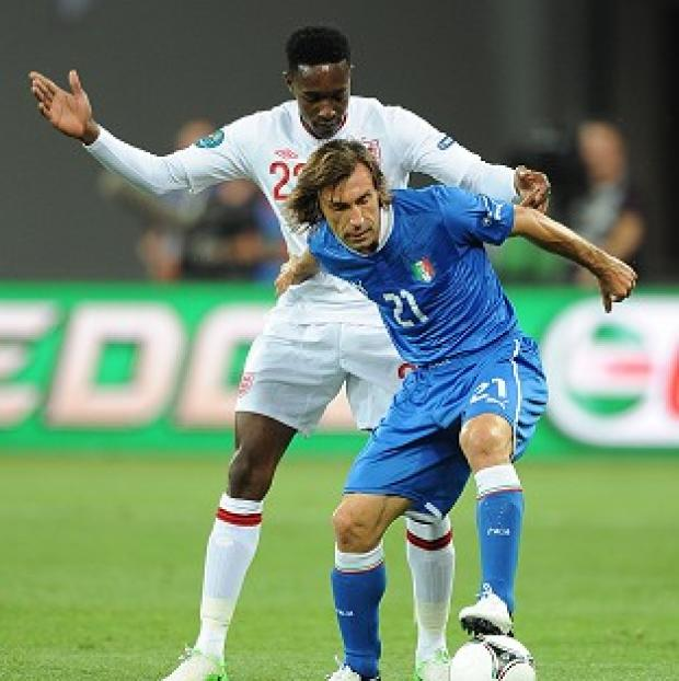 Bicester Advertiser: Andrea Pirlo (right) was labelled 'a star' by Cesare Prandelli after his spot-kick heroics