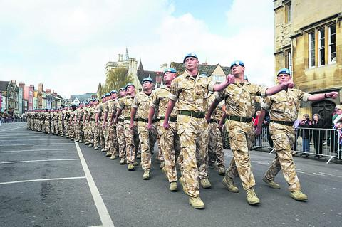 The Pioneers in Bicester after returning from Afghanistan in 2012