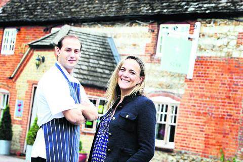 Villager and parish councillor Caron Williams has bought the Star Inn in Sparsholt. She is pictured with her chef Mehdi Amiri