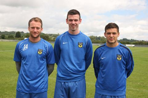 Oxford United new boys (from left) Sean Rigg, Michael Raynes and Jake Forster-Caskey