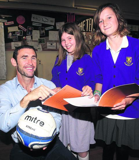 Martin Keown with Ruth Pigott and Kissy O'Hara